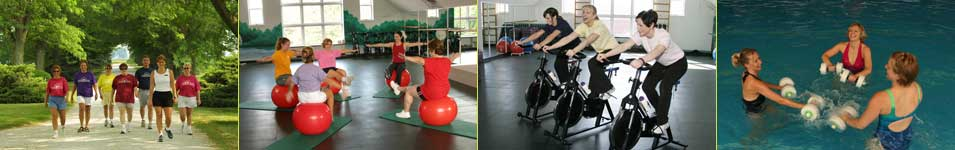 Fitness activities at the Heartland Spa and Fitness Resort.